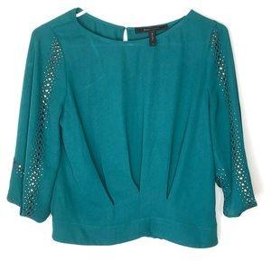 BCBG Max Azria Jewel Emerald Studded Embellished